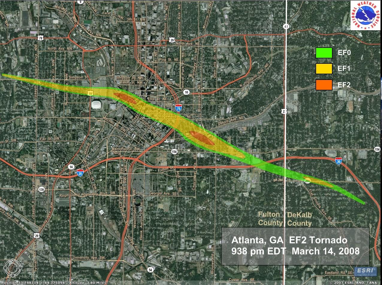 Track via NWS Atlanta