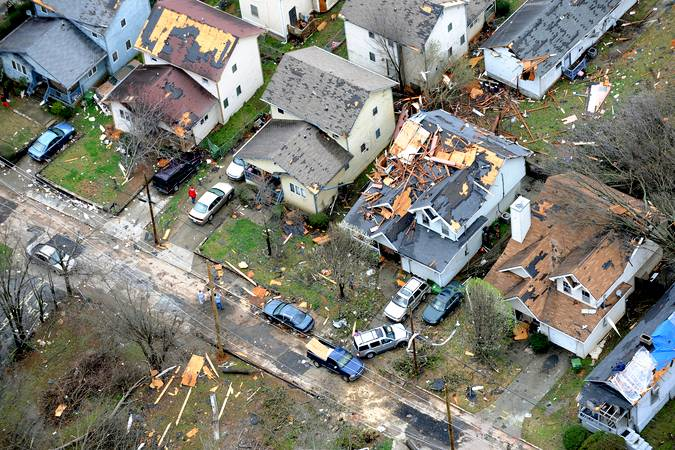 Damage to homes.